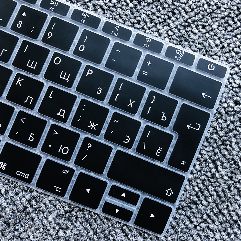 for MacBook Pro for 13Pro Without Touchbar 13 Keyboard Cover Russian A1708 Silicone Keyboard Protective Film Laptop Accessories,A1708 A1988 Us-Enter