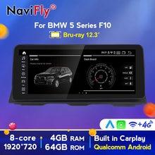 Autoradio multimédia Android 10, 8 cœurs, CIC NBT, Navigation GPS, dvd, pour voiture BMW série 5 F10 F11 (2010 – 2016), entrepôt européen