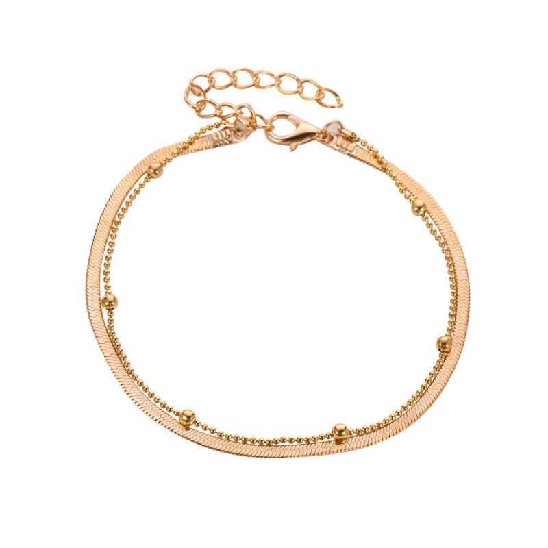 Новые продукты цветной ножной браслет с бусинами/браслет/бусины/серебро/многоцветный/подарок/ежедневно/богемные/пляж к красивой she
