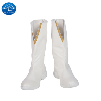Manluyunxiao Godspeed Cosplay Man Boots Halloween Costume August Heart Outfit The Flash Season 5 Carnival White Shoes