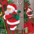 Рождественский Электрический Санта Клаус подъемная лестница куклы Рождественский Декор детей рождественские украшения для подарков для д...
