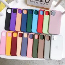 Candy Color Scrub Phone Case For Etui iPhone