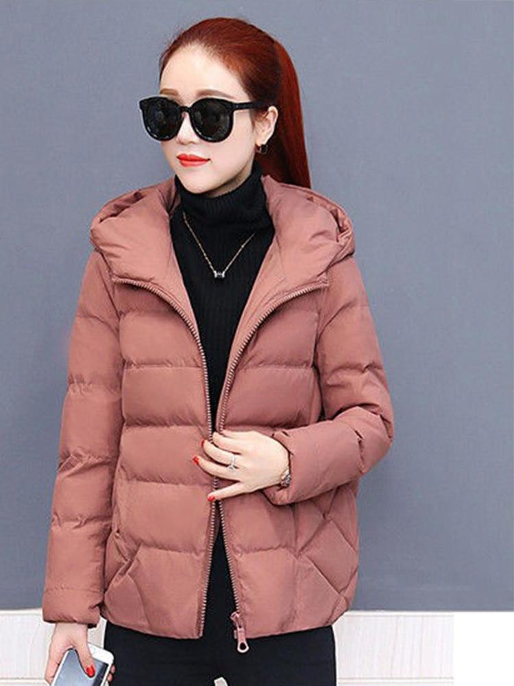 Plus size women winter jacket cotton loose short parkas women outwear designer warm hooded female coat jaqueta feminina DR1192 (7)