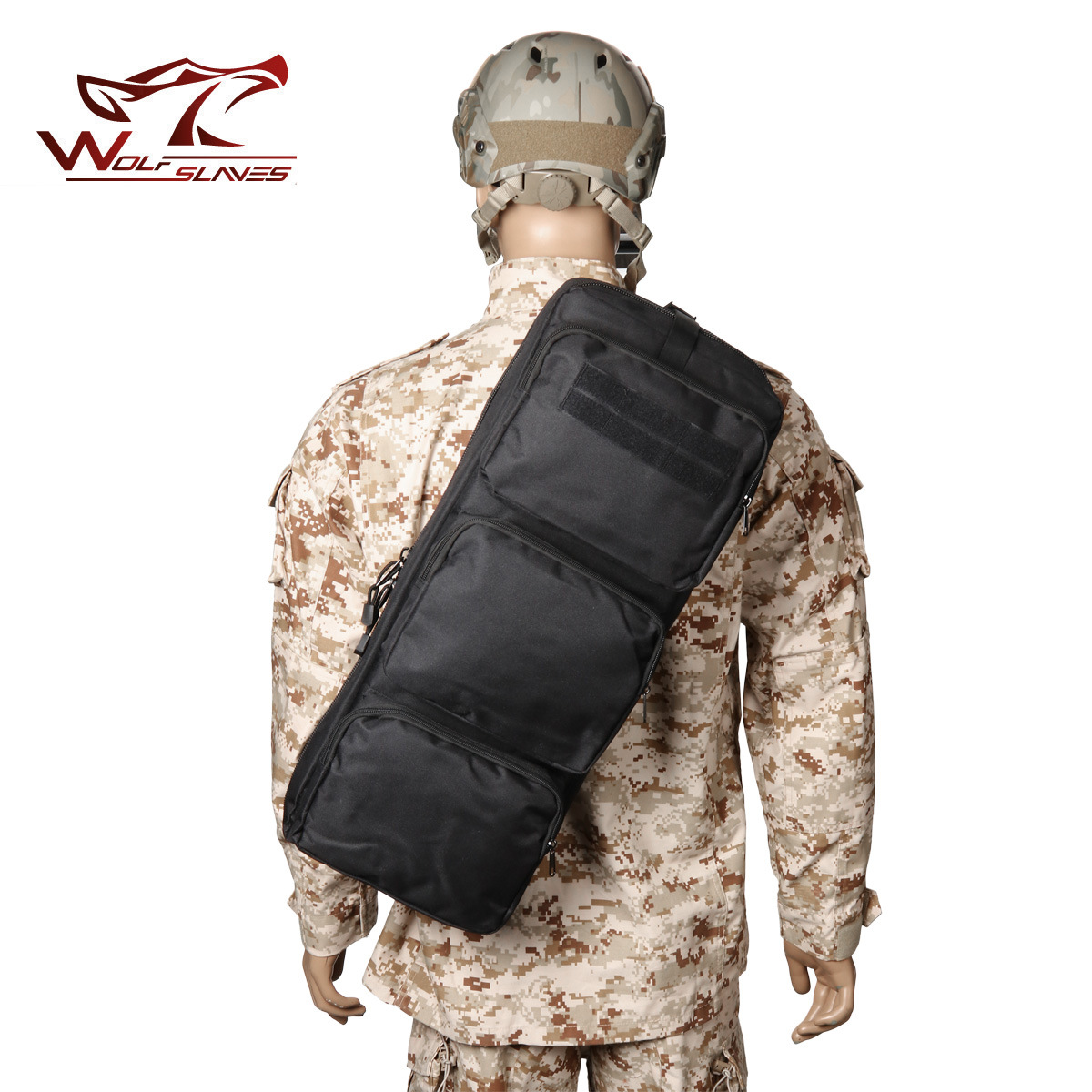 Outdoor MP5 Oblique Backpack Outdoor Fishing Bag Camouflage Shoulder Tactical Backpack CS Field Operations Tactical Mountaineeri