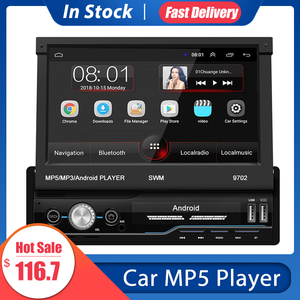 Car MP5 Player 7 Inch Car Radio 16G Android 8.1 GPS Navigation Russia&Europe Map Wifi USB Charging 1 Din HD Touch Screen&camera