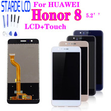 цена на For Huawei Honor 8 LCD Display Touch Screen Digitizer Honor8 LCD For 5.2