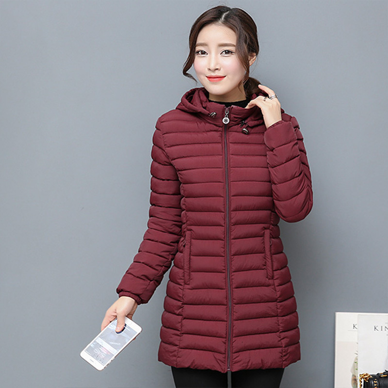 Suit-dress Cotton-padded Clothes Mom With Autumn Frivolous Down Cotton Long Fund Cotton-padded Jacket Aged Loose Coat 40-50