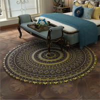AOVOL  Carpets For Living Room Vintage Ethnic Bohemian Round Rug Bedroom Rugs Comfortable And Soft Floor Mats Carpet Kids Room|Carpet|   -