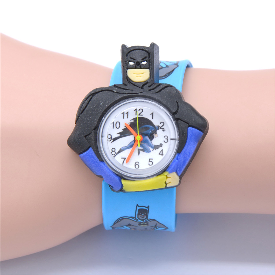 Hot Children Boys Watch Kids Cartoon Batman Wristwatch Cool Rubber Slap Watches For Children Boy Girls
