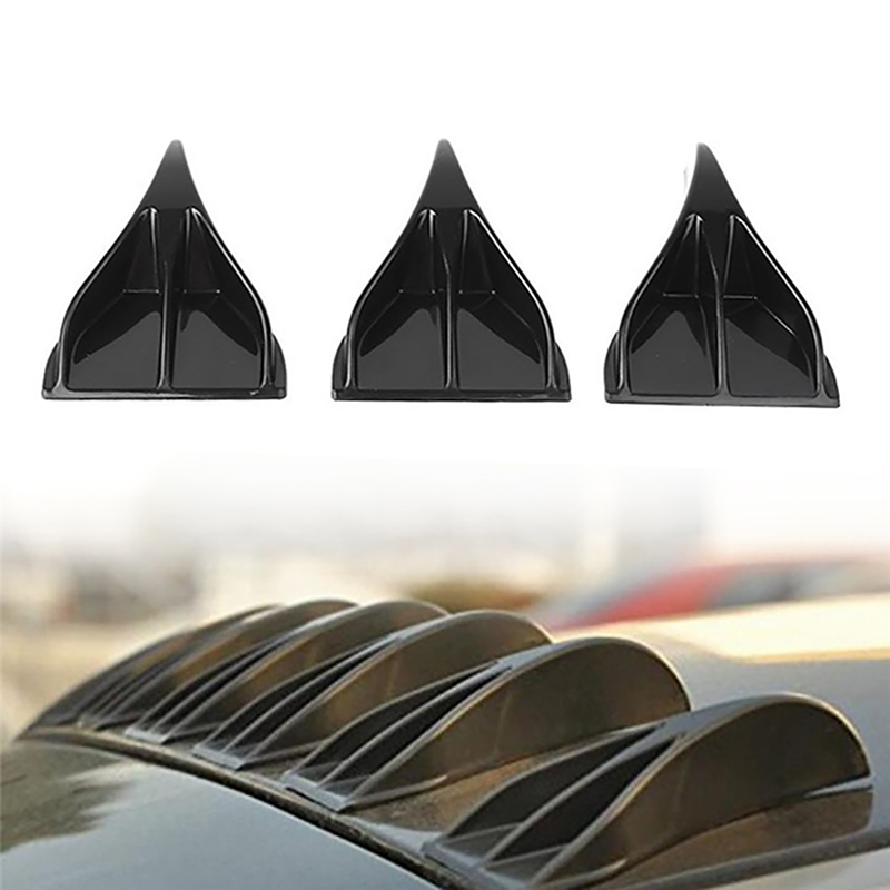 Universal Car Roof Shark Fins Black Trunk Wing Tail Diffuser Vortex Rear Spoiler