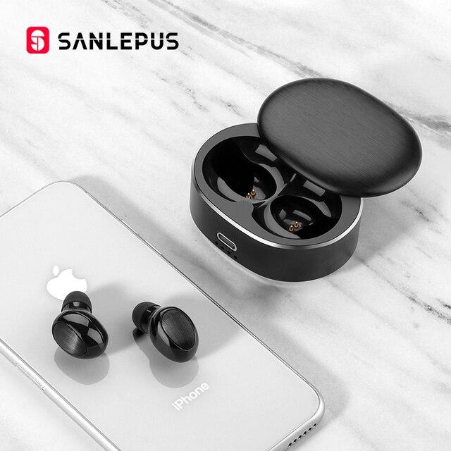 Sanlepus tws 5.0ミニbluetoothイヤホンワイヤレススポーツヘッドフォン3Dステレオヘッドセットとマイク