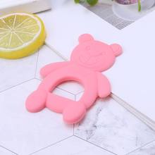 Baby Baby Teether Bear Cute DIY Necklace Teething Massage Pain Relief Pacifier Newborn Orthodontic Oral Care Infants Food Grade(China)