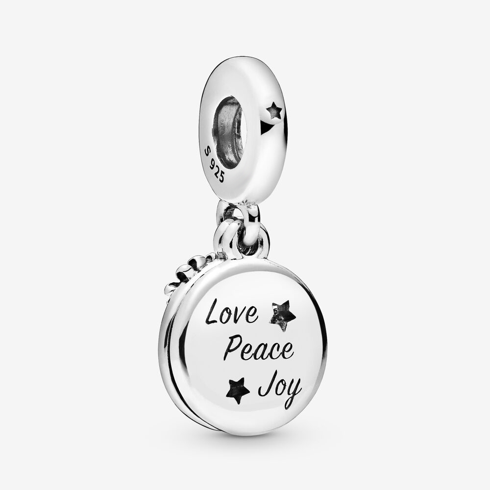 42Santa Love Peace Joy Dangle Charm 2