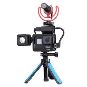 Image 4 - 울란 지 V2 프로 V3 프로 Gopro Vlog 케이스 케이지 52 미리 메터 필터 마이크 어댑터 렌즈 후드 Vlogging 케이스 Gopro 7 6 5