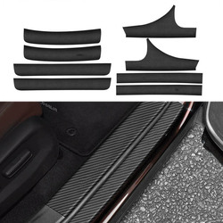 Carbon Fiber Leather Interior Exterior Threshold Door Sill Decoration Strip Welcome Pedal For Honda Accord 10th 2018 2019 2020