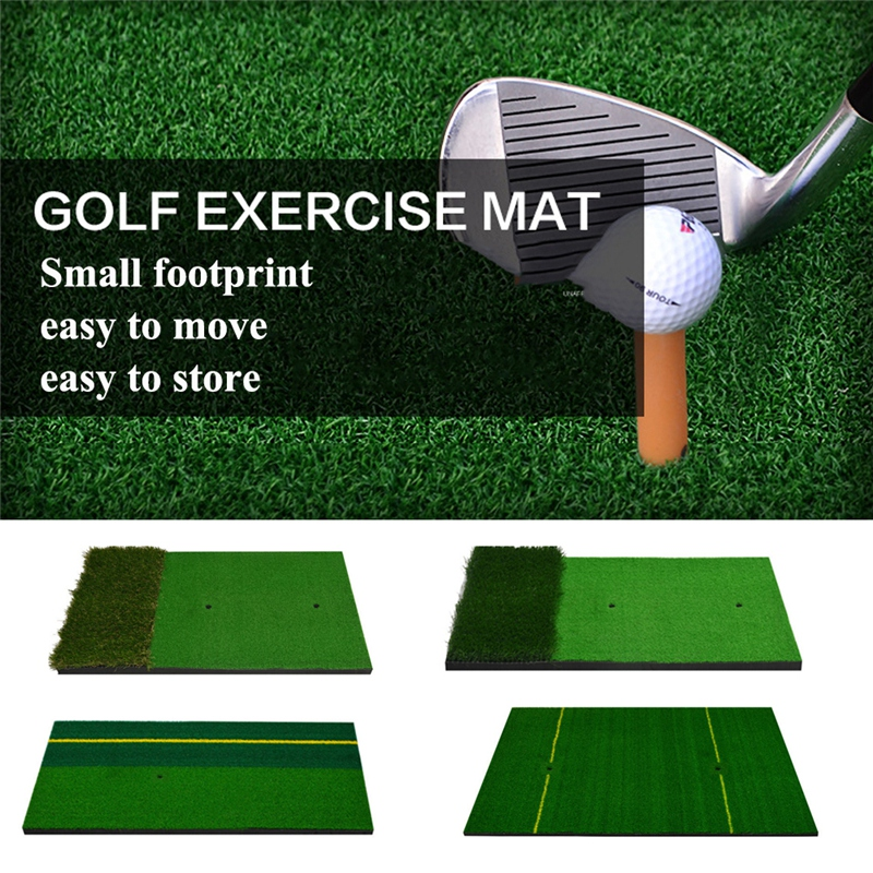 Golf Hitting Mat Golf Training Aids Rubber Grassroots Golfs Chipping Driving Cutting Grass Mats 6 Style