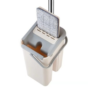 Squeeze Mop and Bucket Hand-Free Wringing Floor Cleaning Mop(China)