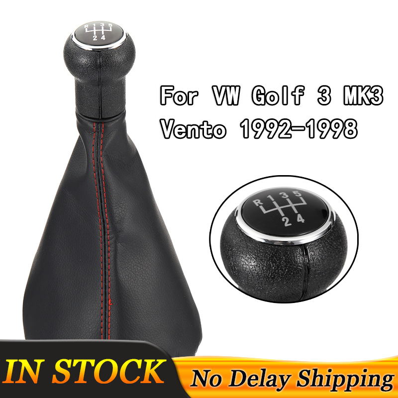 5 Speed Car Manual <font><b>Gear</b></font> <font><b>Shift</b></font> Shifter <font><b>Knob</b></font> Gaitor Boot With Dust Cover For <font><b>VW</b></font> Volkswagen <font><b>Golf</b></font> <font><b>3</b></font> MK3 Vento 1992-1998 Accessories image