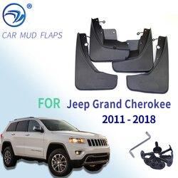 Para jeep grand cherokee wk2 2011-2018 conjunto dianteiro traseiro carro mud flaps mudflaps respingo guardas lama aba mudguards 2012 2013 2014 2015