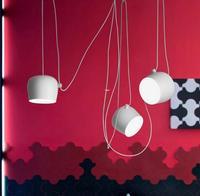 الحديث حديد صناعي العنكبوت طبل قلادة أضواء الأسود تعليق الإنارة بار غرفة المعيشة مصباح معلق تركيبات-في أضواء قلادة من مصابيح وإضاءات على