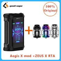 Newest E cigarette Vape Mod Geekvape Aegis X 200w VAPE mod Fit 510 thread E Cig Vape atomizer & geekvape zeus x RTA vape box mod