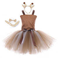 Nuevos Vestidos para niñas con estampado de estrellas de mar de leopardo Vestidos para niñas vestido de fiesta de princesa marca para niños Vestidos 2-8Y