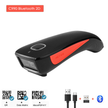 2D Barcode Scanner Drahtlose Bluetooth QR Code Reader C990 Daten Matrix PDF417 für IOS Android Windows Mini Tasche Scanner