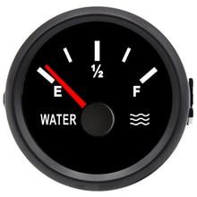 water tank level indicator 52mm 0-190ohm Marine Water Level Gauge Stainless Steel Boat Tool Black Durable vacuum gauge car meter