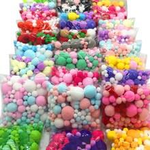 8 мм до 30 мм 20 г разноцветные помпоны из меха DIY мягкие шарики-Помпоны для украшения свадьбы клей на ткани аксессуары 20 г