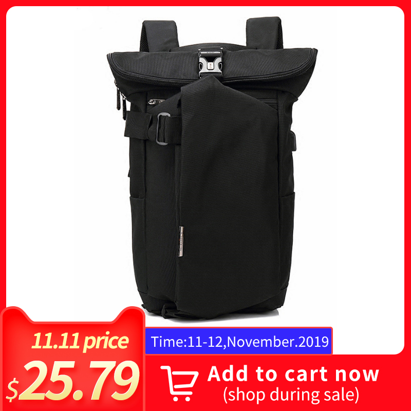 OZUKO Backpack For Men Women Oxford School Bags Anti Theft USB Charging Laptop for teenagers 2019 Youth Travel