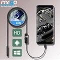 7 мм 5,5 мм эндоскоп Камера гибкий IP67 эндоскоп Водонепроницаемый Micro USB 6 светодиодный USB эндоскопическая инспекции для Android микро Тип USB C