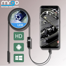 7mm 5.5mm kamera endoskopowa elastyczne IP67 endoskop wodoodporna Micro USB 6 LED kontroli endoskopowej dla Android Micro USB typu C