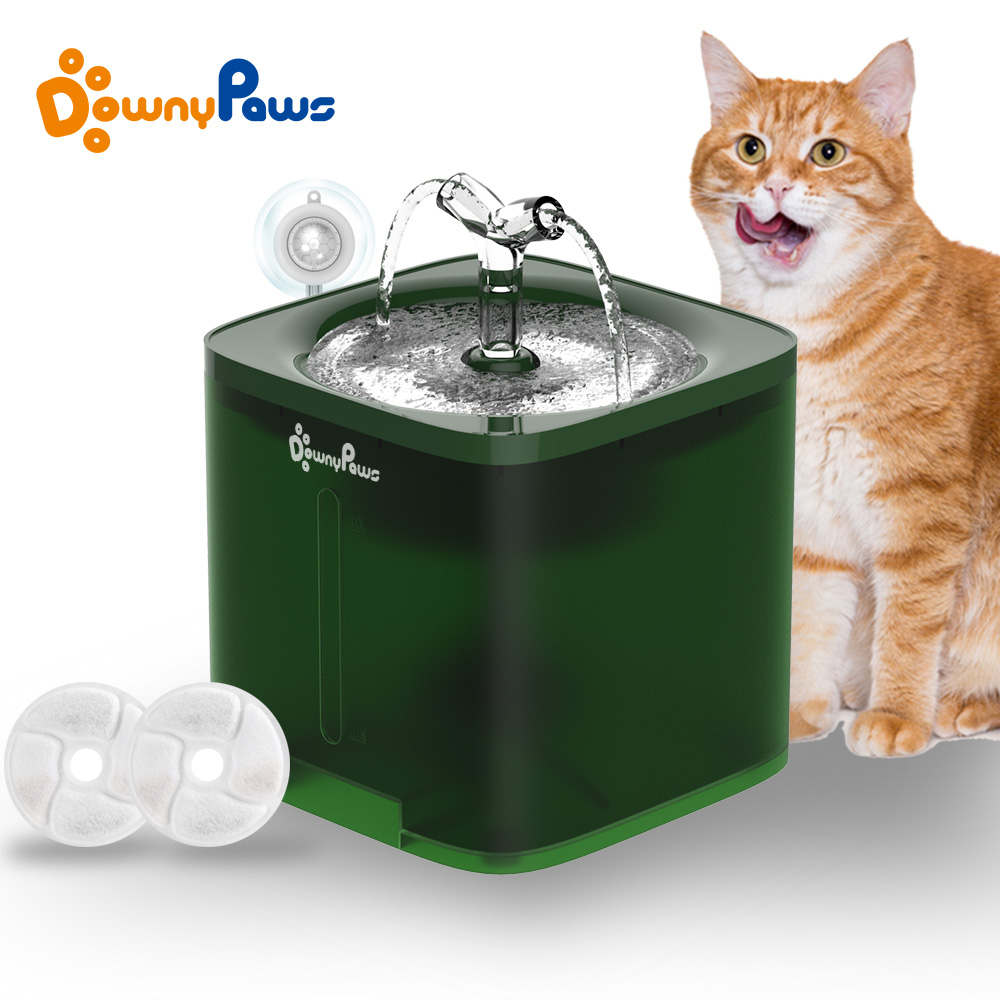 2L Drinker For Cats Water Fountain Automatic Mute Filter Dispenser Pet Cat Hamster Water Bowl Dog Drinking Feeder Motion Sensor
