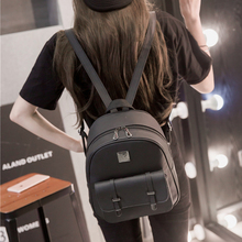 цена на New Leather Backpack for Women 2019 Fashion Preppy Style School Bags for Girls Teenagers Female Schoolbags Zipper Small Bag