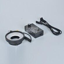 Микроскопический светодиодный фонарь-кольцо промышленная камера регулируемый источник света 96 Светодиодный шарик внутренний диаметр 61 мм