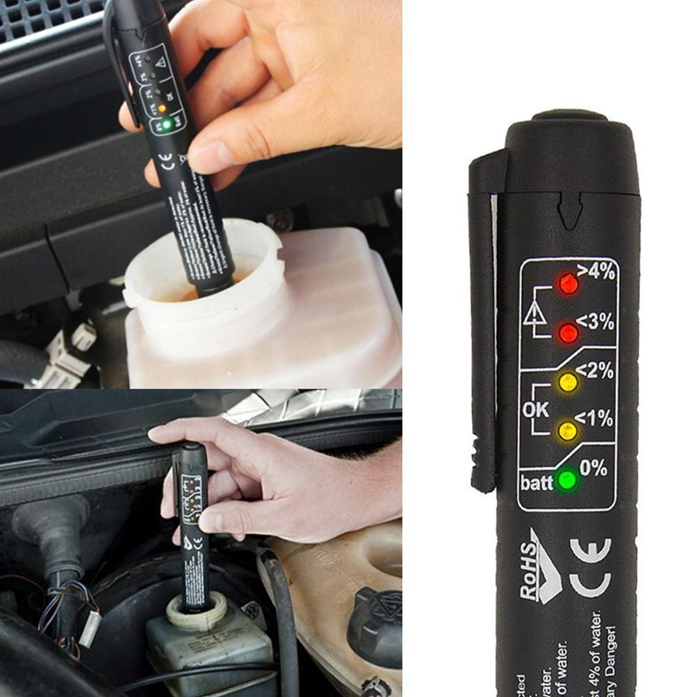 Brake Fluid Liquid Tester Oil Check Pen Auto 5 LED Car Vehicle Testing Tool For Testing DOT3 DOT4 DOT5 Brake Fluid