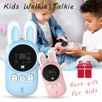 Mini Kids Walkie Talkie Toys Child Portable Two Way Radio 1-3 km Comunicador For Camping/ Family/Children Gift Cute Rabbit Style - discount item  42% OFF Walkie Talkie