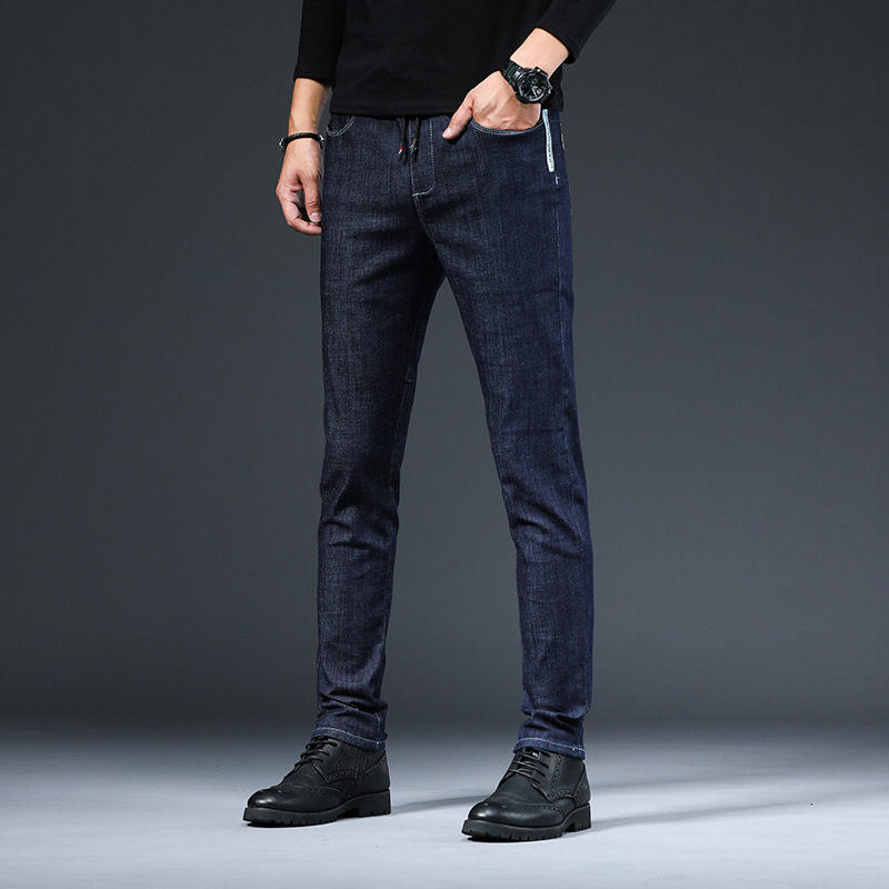 ICPANS Korea Skinny Jeans Men Slim Fit Black Blue Elastic Waist Pencil Denim Pants Men 2020 Spring Summer 4