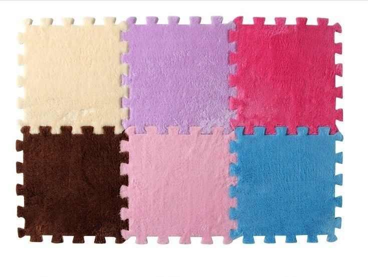 8 色人気 EVA シャギーベルベットマットキッズ泡カーペットパズルベビーヨガソフトモザイク床ホーム暖かいと快適な水分