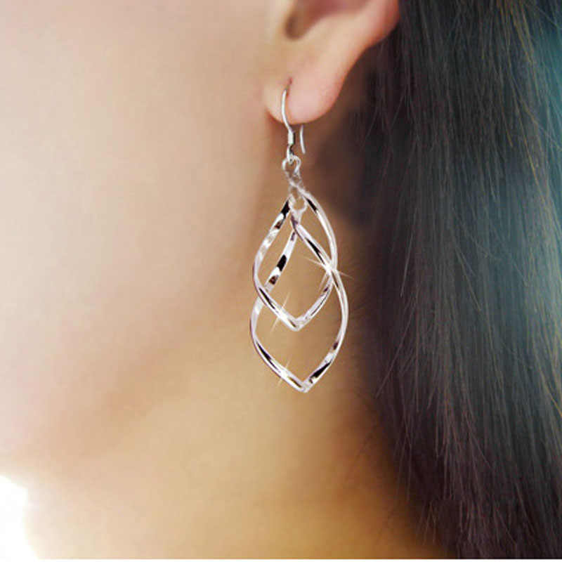 Anting-Anting untuk Wanita Fashion Wanita Paduan Disepuh Stud Menjuntai Anting-Anting Anting-Anting Perhiasan Perak Anting-Anting untuk Wanita 2019 Laporan