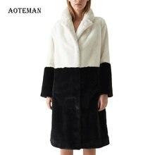 Зимние куртки для женщин пальто из искусственного меха в винтажном