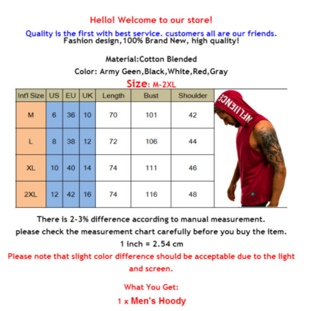 hirigin 2020 Men's Cotton Sleeveless Hoodie Bodybuilding Workout Tank Tops Muscle Fitness Shirts Male Jackets Top 6