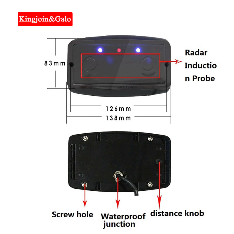 Radar Vehicle Detector Obstacle Induction Controller Anti-smashing Radar Induction Radar Detector Laser
