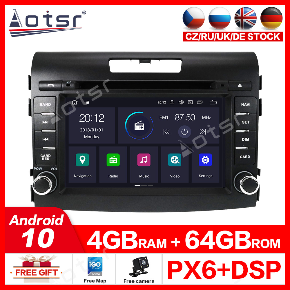 Android10.0 4G+64GB Radio Car DVD Player GPS Navigation for <font><b>Honda</b></font> <font><b>CRV</b></font> <font><b>2012</b></font>-2016 Car Stereo Audio Vehicle <font><b>Multimedia</b></font> Headunit DSP image