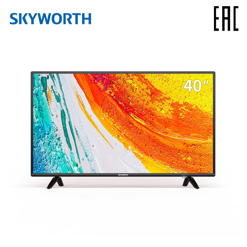 Телевизор 40 дюймов LED ТВ Skyworth 40E2A FullHD TV