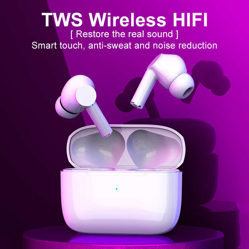TWS Bluetooth Earphone Air Pro 3 Benar Nirkabel Headphone Airpots Earbud dengan Mikrofon untuk Apple Ponsel Android Vs I900000