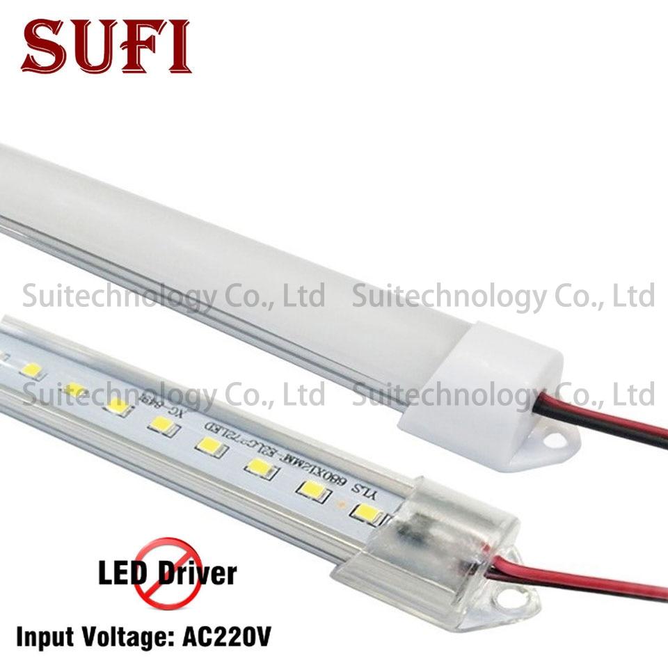 5pcs Ac 220v LED Rigid Strip Driverless 20/30/40/50/60cm SMD2835 Led Bar Light No Need Power For DIY Kitchen Light Counter Lamp