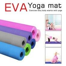 4 мм EVA Толстая прочная Циновка для йоги нескользящая упражнения коврик толщиной Фитнес коврик складной тренажерный зал Фитнес оборудовани...