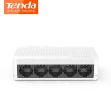 Tenda S105 Ethernet коммутатор 5 портов s мини настольный сетевой коммутатор 10 м/100 м RJ45 порт полный дуплексный LAN концентратор Plug and Play Простая настройка