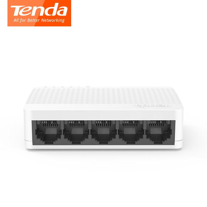 Tenda S105 Ethernet Switch 5 Ports Mini Desktop Network Switchs 10M/100M RJ45 Port  Full Duplex LAN Hub Plug And Play Easy Setup
